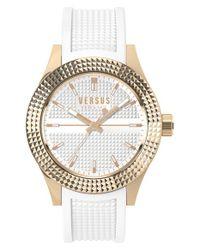 Versus | Metallic 'bayside' Rubber Strap Watch | Lyst