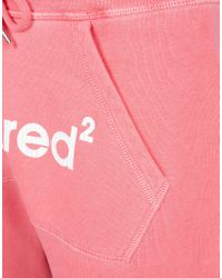 DSquared² Pink Sweatshorts for men