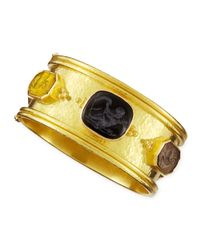 Elizabeth Locke | Yellow Cherub Venetian Glass Intaglio Bangle | Lyst