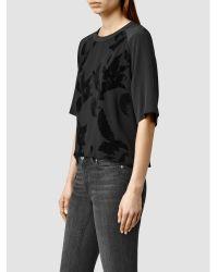 AllSaints Black Uma Lux Top