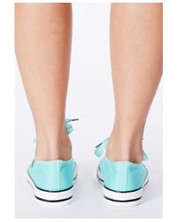 Missguided - Green Kiela Embellished Trainers In Mint - Lyst