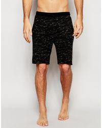 ASOS | Black Loungewear Shorts In Inject Slub Fabric for Men | Lyst