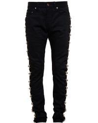 Saint Laurent | Black Concho Embellished Jeans for Men | Lyst