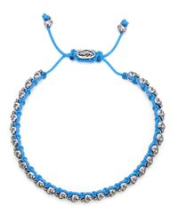 M. Cohen | Blue Mini Skull Friendship Bracelet for Men | Lyst