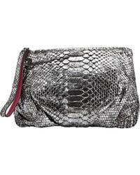 Zagliani - Metallic Clutch Bag - Lyst