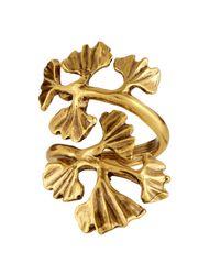 Oscar de la Renta - Metallic Gingko-Leaf Ring - Lyst