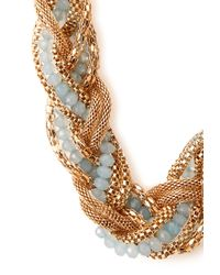 Forever 21 | Blue Be Seen Braided Necklace | Lyst