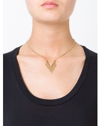 Marc By Marc Jacobs - Metallic 'beat It Fringe Pointer' Necklace - Lyst