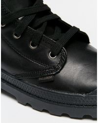 Palladium - Black Leather Boots for Men - Lyst
