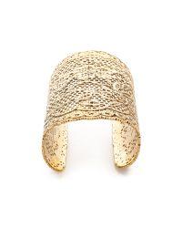 Aurelie Bidermann - Metallic Talitha 18kt Gold Plated Bracelet - Lyst