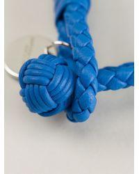 Bottega Veneta Blue Braided Bracelet