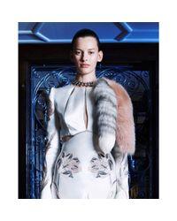 Alexander McQueen Pink Chained Fox Fur