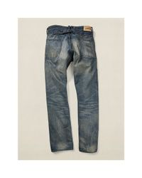 RRL - Blue Empire Buckle-back Jean for Men - Lyst