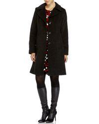 Anne Klein | Gray Notch Collar Walker Coat | Lyst