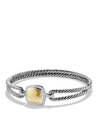 David Yurman Metallic Albion Bracelet With Diamonds And Gold