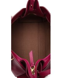 Nina Ricci Purple Leather Handbag Fuchsia