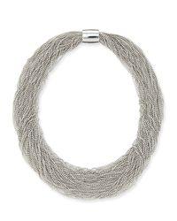 Brunello Cucinelli | Metallic Monili Beaded Multi-strand Choker Necklace | Lyst