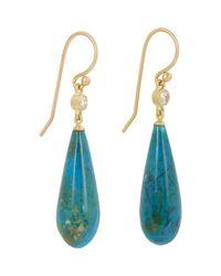 Monique Péan - Blue Women's Diamond & Opalina Drop Earrings - Lyst