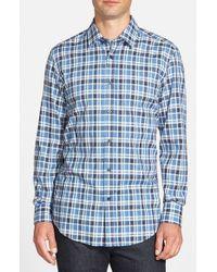 BOSS Blue 'lukas' Regular Fit Check Sport Shirt for men