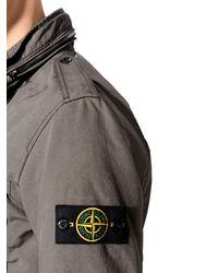 Stone Island Green Padded Coated David Tc Field Jacket for men
