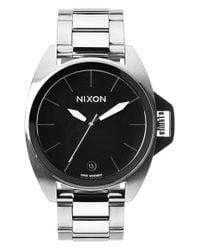 Nixon | Metallic 'anthem' Black Bracelet Watch | Lyst