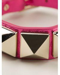 Valentino - Pink Rock Stud Bracelet - Lyst