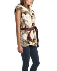 A.L.C. Gray Lilly Fox Fur Vest