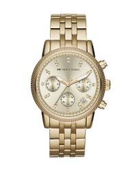 MICHAEL Michael Kors - Metallic Michael Kors 'the Ritz' Chronograph Bracelet Watch - Lyst