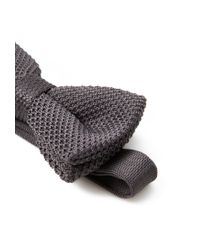 Forever 21 - Gray Textured Knit Bow Tie for Men - Lyst