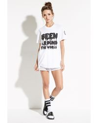 Forever 21 | White This Is A Love Song Been Around Tee | Lyst