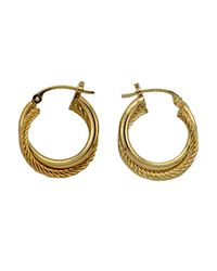 Lord & Taylor | 14k Yellow Gold Hoop Earrings | Lyst