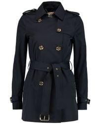 MICHAEL Michael Kors Blue Cotton-blend Trench Coat