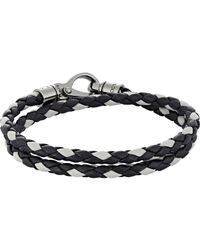 Tod's - Multicolor Braided Leather Double-wrap Bracelet for Men - Lyst