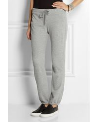 James Perse Gray Genie Cotton-terry Track Pants