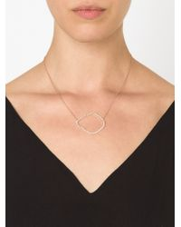 Kimberly Mcdonald | Metallic Diamond Round Outline Necklace | Lyst