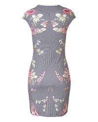 McQ - Multicolor Stretch Cotton Floral Print Sheath - Lyst