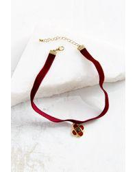 Urban Outfitters Red Velvet Renaissance Choker Necklace