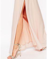 ASOS | Blue Kimono Plunge Maxi Dress | Lyst