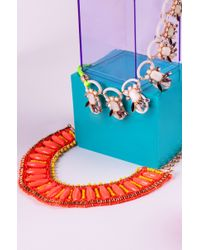 AKIRA - Metallic Waxed Rope & Bead Necklace - Lyst