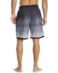 Adidas - Black G Stripe Volley Board Shorts for Men - Lyst