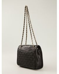 Tory Burch | Black Fleming Medium Shoulder Bag | Lyst