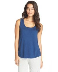 Ugg | Blue 'clair' Scoop Neck Tank | Lyst