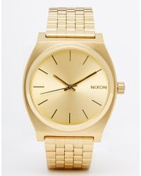 Nixon | Metallic Time Teller Gold Watch | Lyst