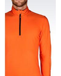 EA7 - Orange Zip Sweatshirt for Men - Lyst
