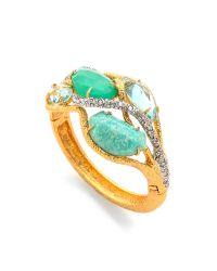 Alexis Bittar | Green Multi Stone Ecrusted Vine Hinge Bracelet | Lyst
