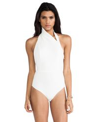 Lyst - Aq/Aq Sydney Bodysuit Cream in White