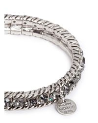 Philippe Audibert - Metallic 'anita' Swarovski Crystal Elasticated Bracelet - Lyst
