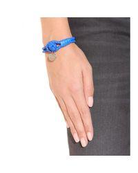 Bottega Veneta Blue Knot Woven Leather Bracelet