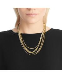 COACH - Metallic Mixed Cupchain Necklace - Lyst