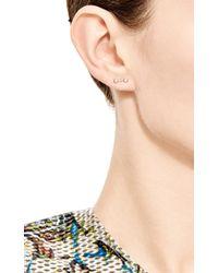 Sehti Na Metallic Diamond Twin Stud Earring